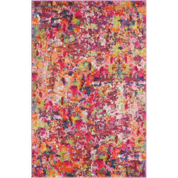 Piotrowski Magenta Area Rug by Bungalow Rose