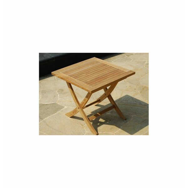 Lowery Folding Teak Balcony Table by Rosecliff Heights