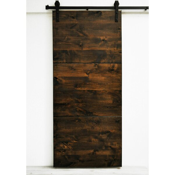 Modern Slab Wood 1 Panel Stained Interior Barn Door by Dogberry Collections