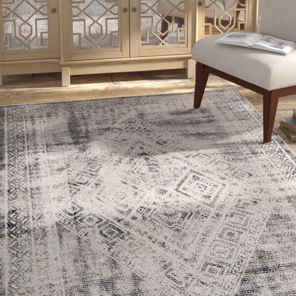 Grayson Hand-Tufted White/Gray Area Rug by Bungalow Rose
