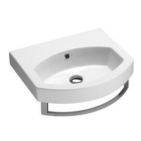 Ceramic U-Shaped Vessel Bathroom Sink with Overflow ByGSI Collection