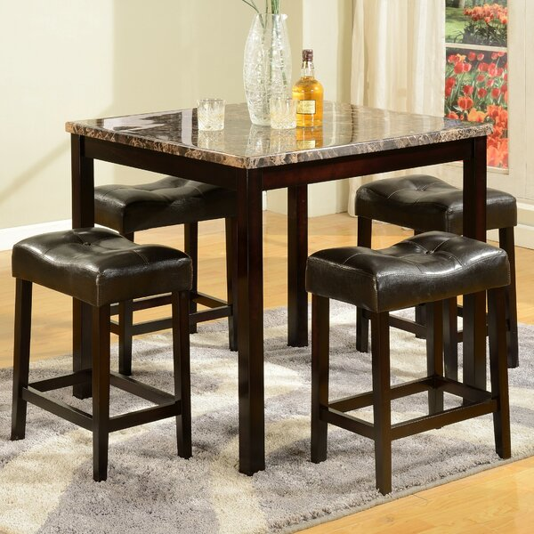 Traynor 5 Piece Counter Height Dining Set By Andover Mills