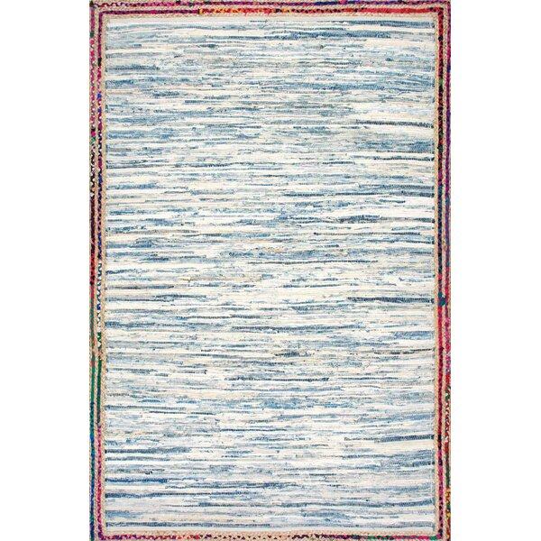 Suraiya Hand-Woven Blue Area Rug by Bungalow Rose