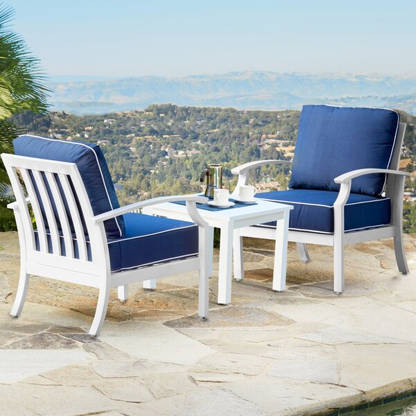 Everby 3 Piece Seating Group with Cushions by Highland Dunes Highland Dunes