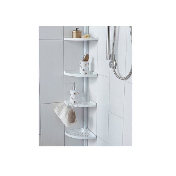 4-Tier Tension Pole Shower Caddy by Rebrilliant
