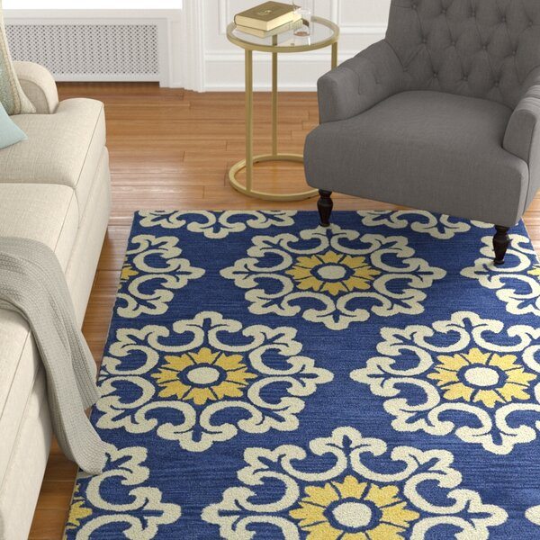 Tunstall Hand-Tufted Blue Area Rug by Darby Home Co