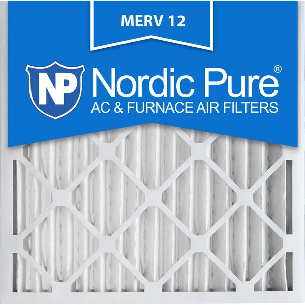 Merv 12 Allergen Pleated Air Conditioner/Furnace Filter (Set of 3) by Nordic Pure