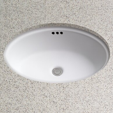 Toto Dartmouth Oval Undermount Bathroom Sink With Overflow - Bathroom drain