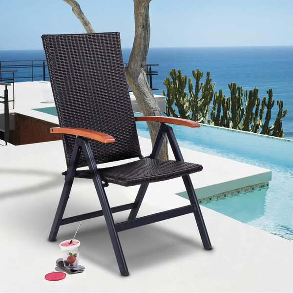 Patio Garden Resin Folding Chair by Costway