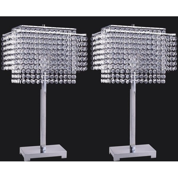Ousseini Crystal Strings 28 Table Lamp (Set of 2) by Everly Quinn