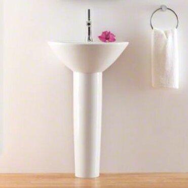 Parigi Ceramic 20 Pedestal Bathroom Sink by Kohler