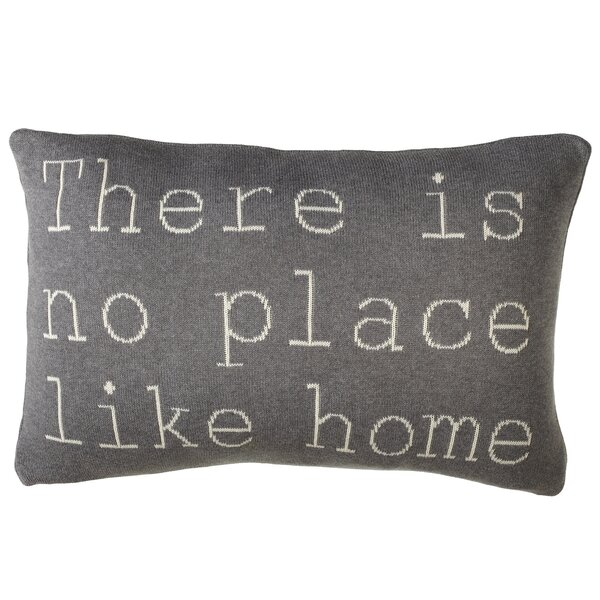 Adkins There Is No Place Like Home Cotton Lumbar Pillow by Gracie Oaks