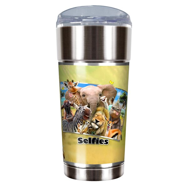 Africa Selfies 24 oz. Stainless Steel Travel Tumbler by Great American Products