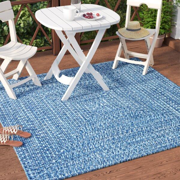 Hawkins Blue Wave Indoor/Outdoor Area Rug by Winston Porter