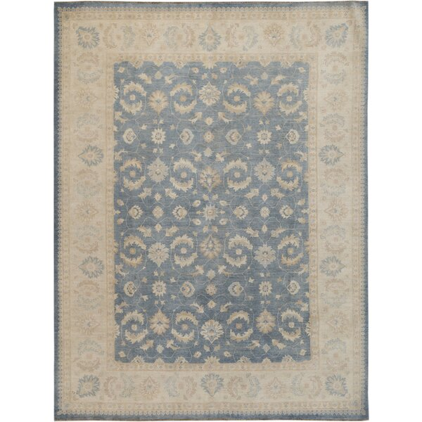 Hand-Knotted Beige/Blue Area Rug by Wildon Home ®