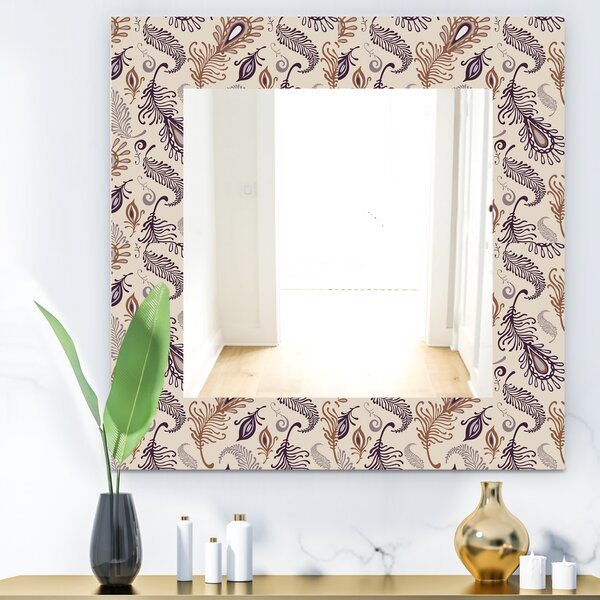 Various Feather Traditional Wall Mirror