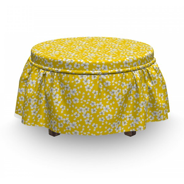 Naive Motif Ottoman Slipcover (Set Of 2) By East Urban Home
