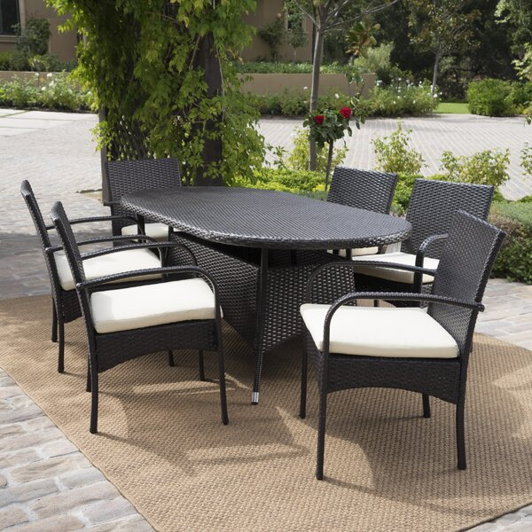 Mccoll 7 Piece Dining Set with Cushions