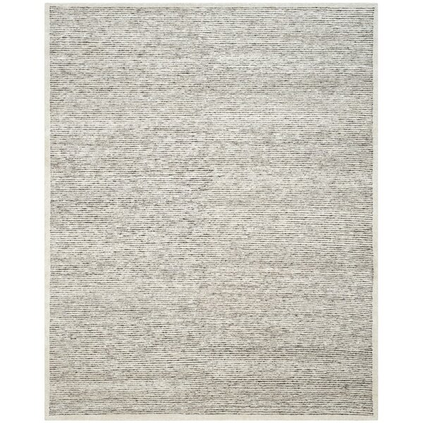 Lidiaídia Hand-Knotted Striped Gray Area Rug by 17 Stories