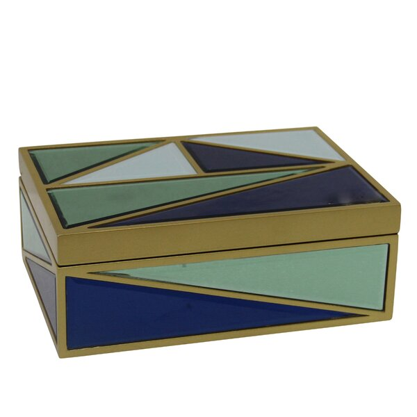 Anne Wood/Glass Decorative Box by Corrigan Studio