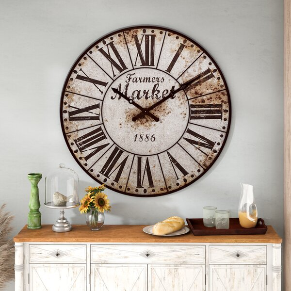 Midcre 47 Farmers Market Oversized Wall Clock by August Grove