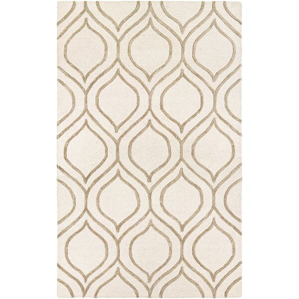 Devorah Hand-Woven Ivory/Gray Area Rug by Corrigan Studio