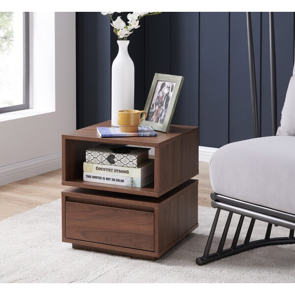Seay End Table With Storage By Union Rustic
