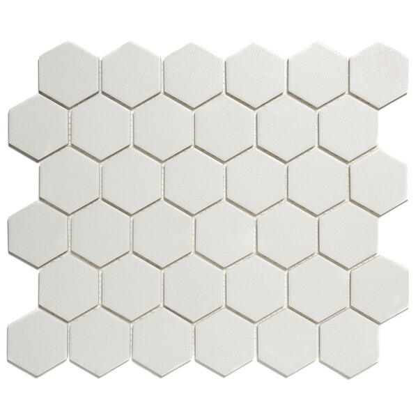 London 2 x 2 Porcelain Mosaic Tile in White by The Mosaic Factory