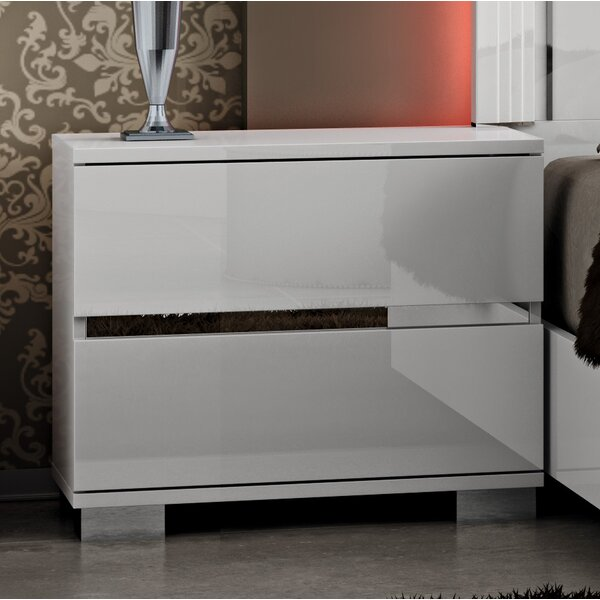 Godolphin 2 Drawer Nightstand by Orren Ellis