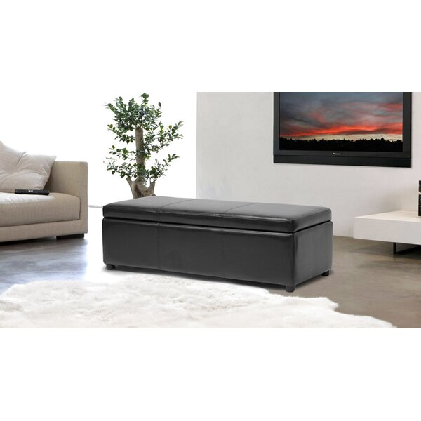 Cogdill Faux Leather Storage Bench by Winston Porter
