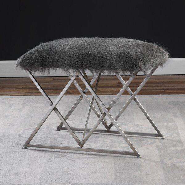 Chisley Fur Vanity Stool by Willa Arlo Interiors