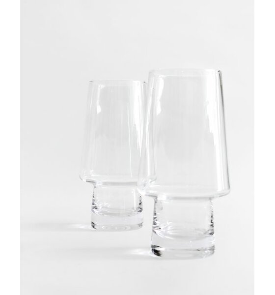 Pino 16 oz. Glass Pint Glasses (Set of 2) by Magisso