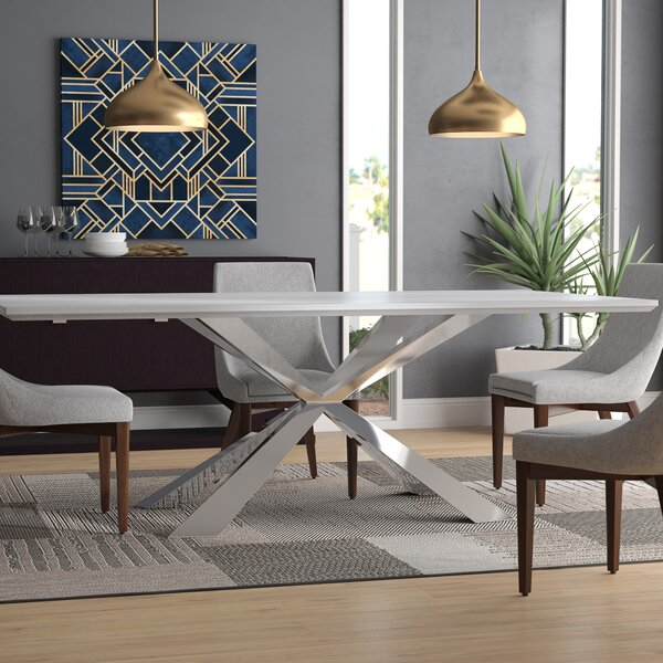 Tiya Dining Table by Orren Ellis Orren Ellis