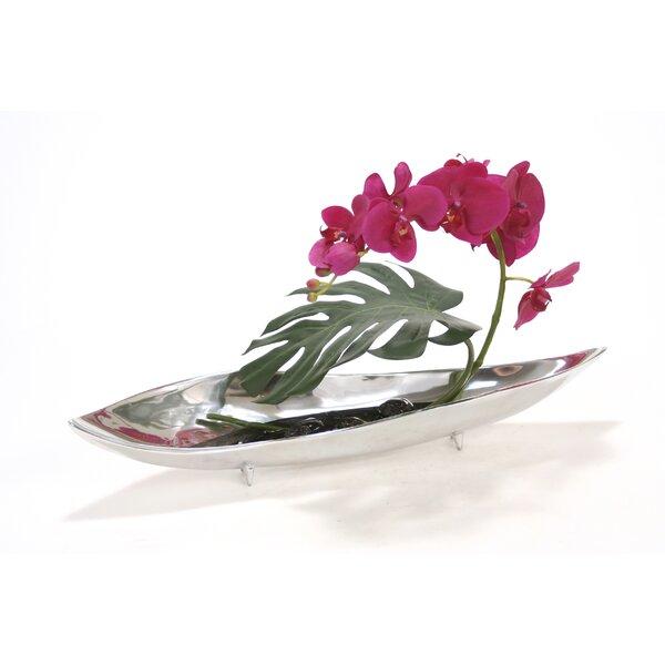 Violet Phalaenopsis Orchids in Tray by Distinctive Designs
