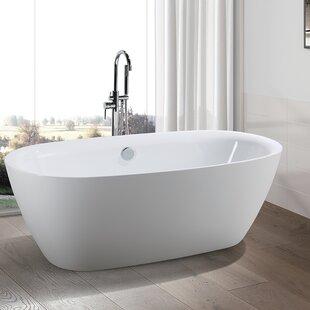 Read Reviews 67 x 31 Freestanding Soaking Bathtub ByVanity Art