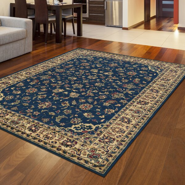 Safira Navy/Ivory Area Rug by Astoria Grand