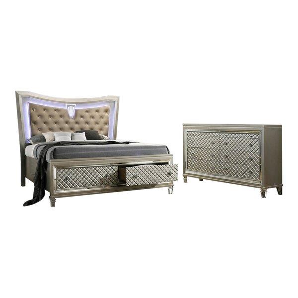Sleigh Configurable Bedroom Set by Mercer41 Mercer41