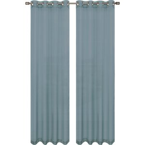 Gallimore Solid Sheer Grommet Curtain Panels (Set of 2)