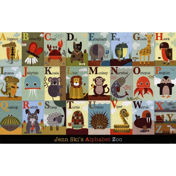 Alphabet Zoo Paper Print by Evive Designs