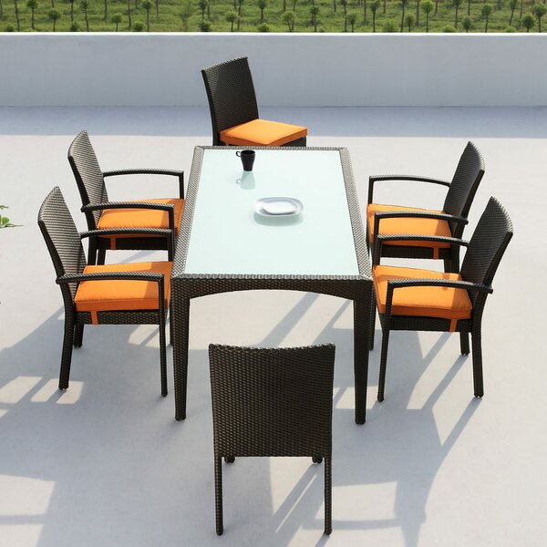 Agora Mississippi 7 Piece Dining Set with Cushions by Brayden Studio