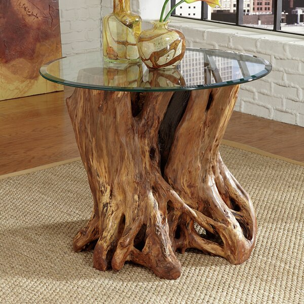 Winooski Root Ball End Table by Union Rustic