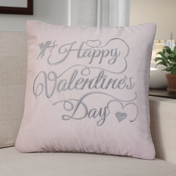Duplantis Valentines Day Embroidery Throw Pillow by The Holiday Aisle