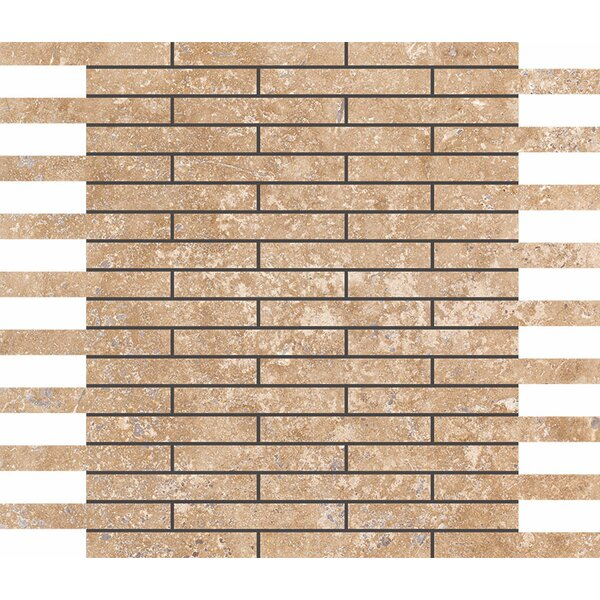 0.625 x 4 Stone Mosaic Tile in Walnut by Parvatile