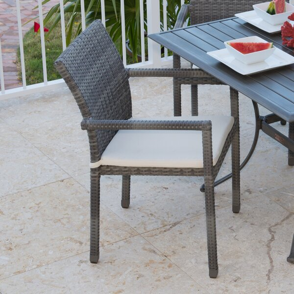 Newport Beach Stacking Patio Dining Chair with Cushion by Panama Jack Outdoor