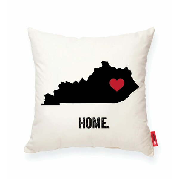 Pettry Kentucky Cotton Throw Pillow by Wrought Studio