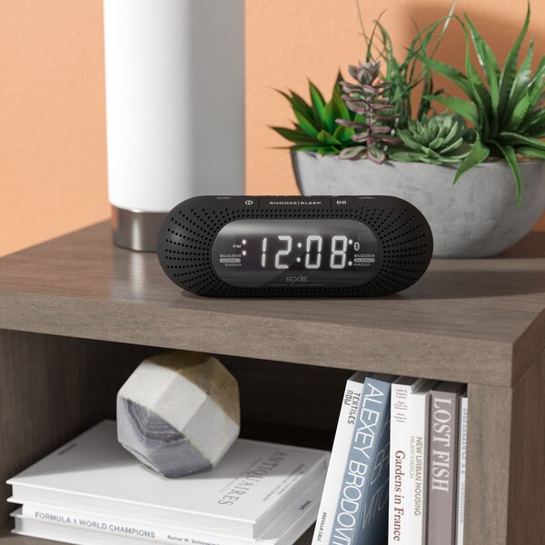 LED Bluetooth and Radio Alarm Clock by Zipcode Design