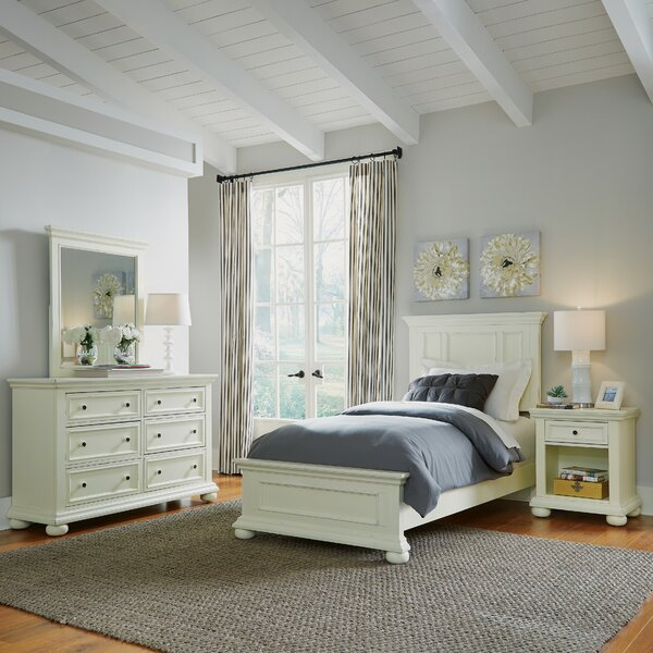 Krogman Panel 3 Piece Bedroom Set by Alcott Hill