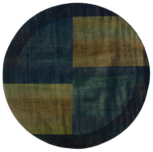 Sarabi Blue/Gold Area Rug by Bloomsbury Market