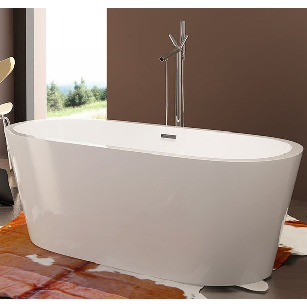 HelixBath Pella 63 x 29.5 Soaking Bathtub by Kardiel