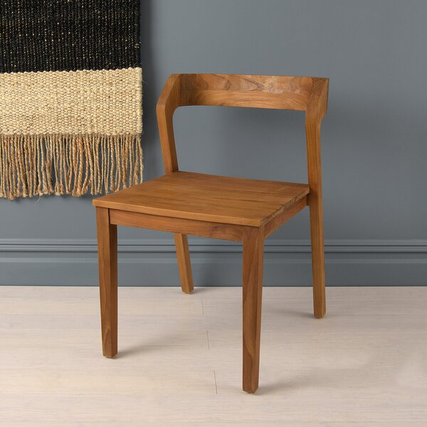Townsley Solid Wood Side Chair in Walnut/Oak by Foundry Select Foundry Select